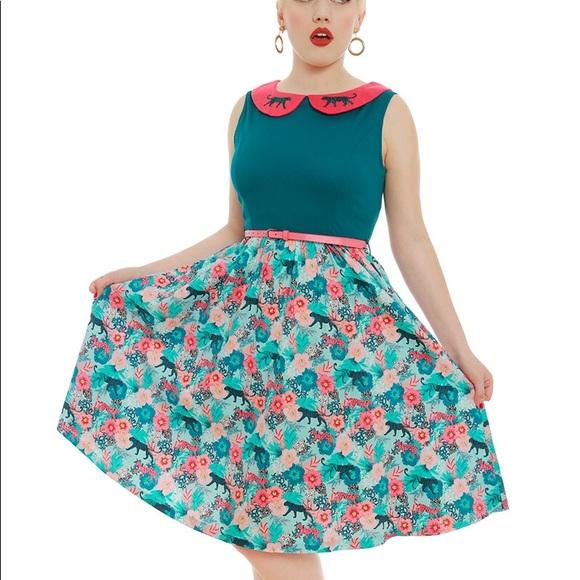 a25a2e2b08bf Lindy Bop Dresses & Skirts - Lindy Bop Molly Anne Tropical Leopard print